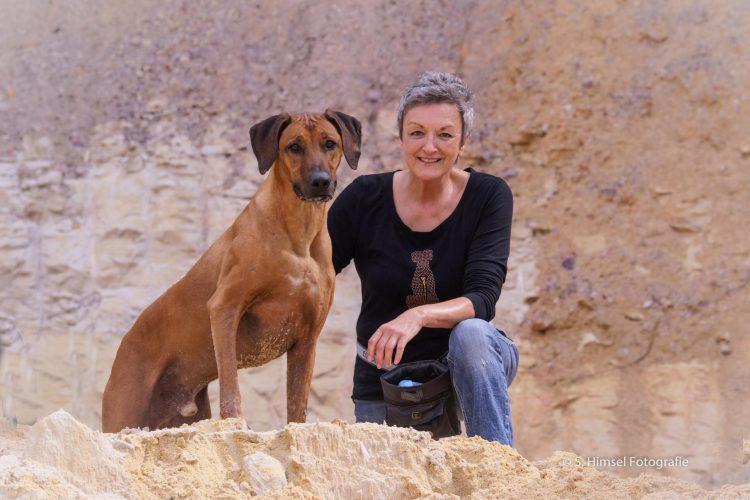 Gilla Stefan mit Hund Ayo